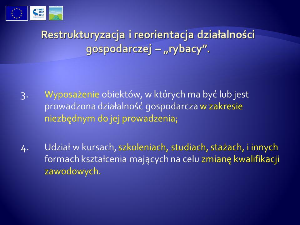 """Restrukturyzacja i reorientacja działalności gospodarczej – """"rybacy ."""