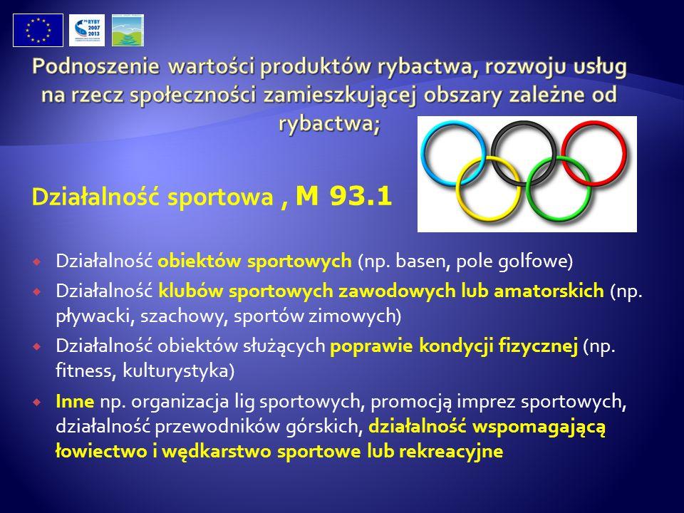 Działalność sportowa , M 93.1
