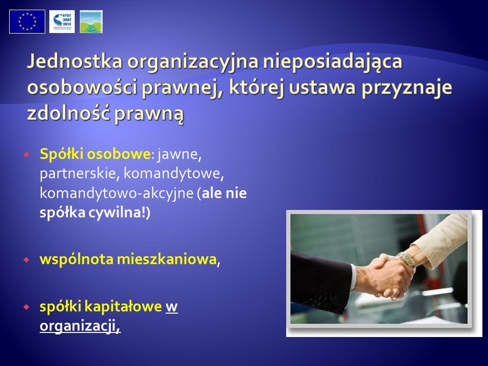 Jednostka organizacyjna nieposiadająca osobowości prawnej, której ustawa przyznaje zdolność prawną