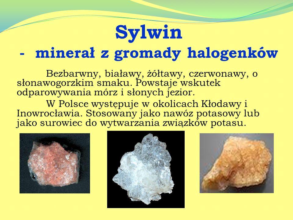- minerał z gromady halogenków