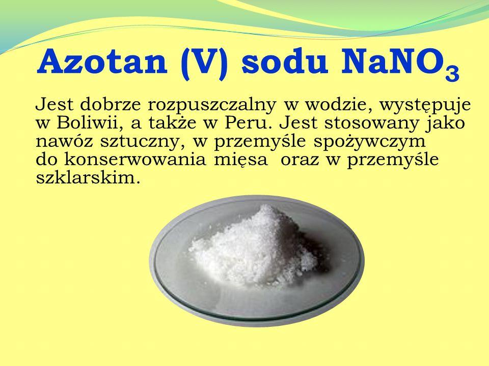Azotan (V) sodu NaNO3