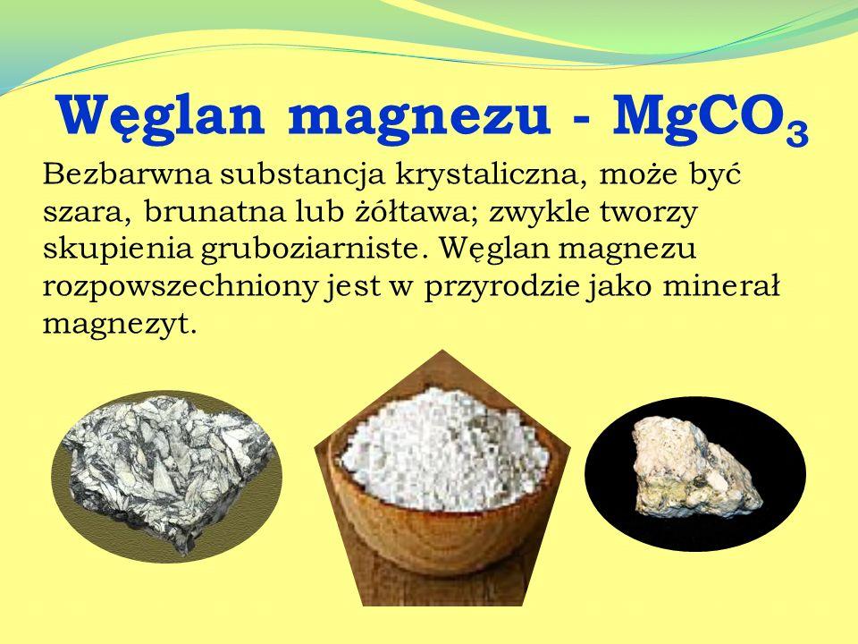 Węglan magnezu - MgCO3