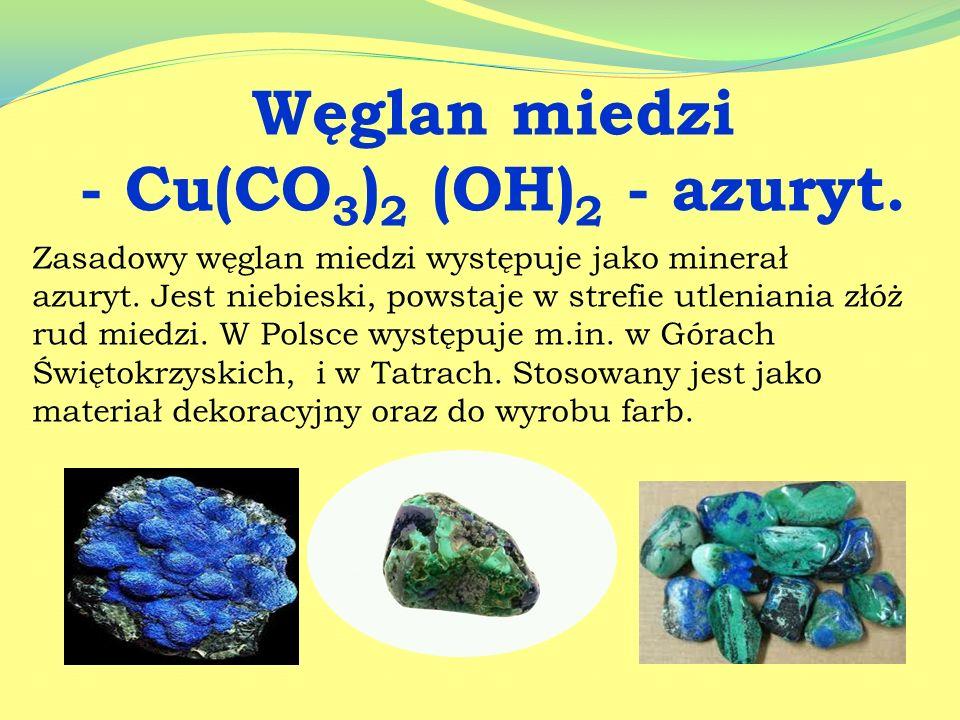 Węglan miedzi - Cu(CO3)2 (OH)2 - azuryt.