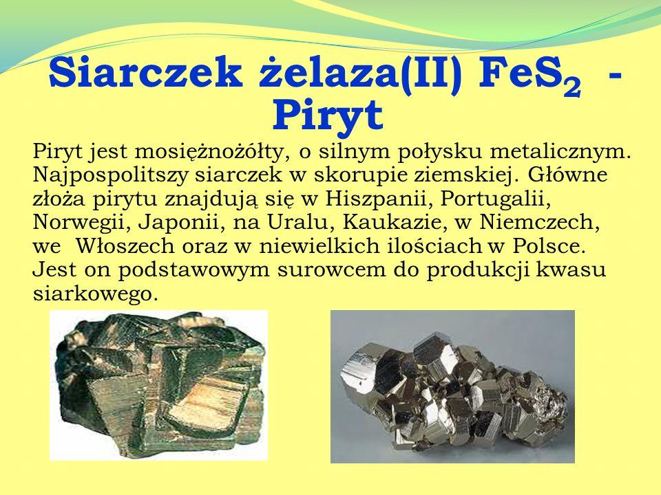 Siarczek żelaza(II) FeS2 - Piryt