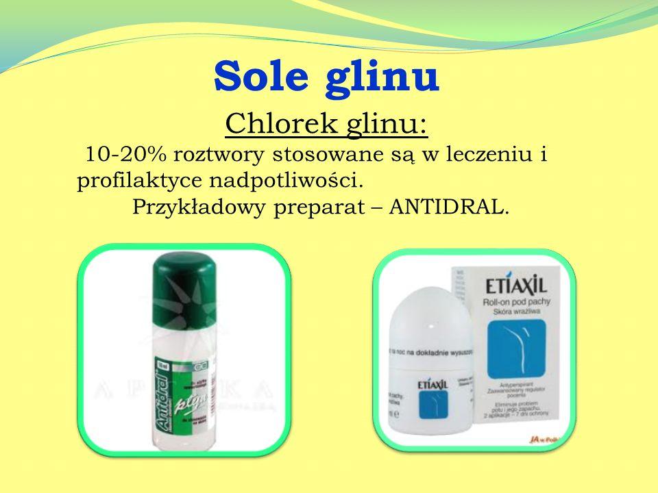 Sole glinu Chlorek glinu: