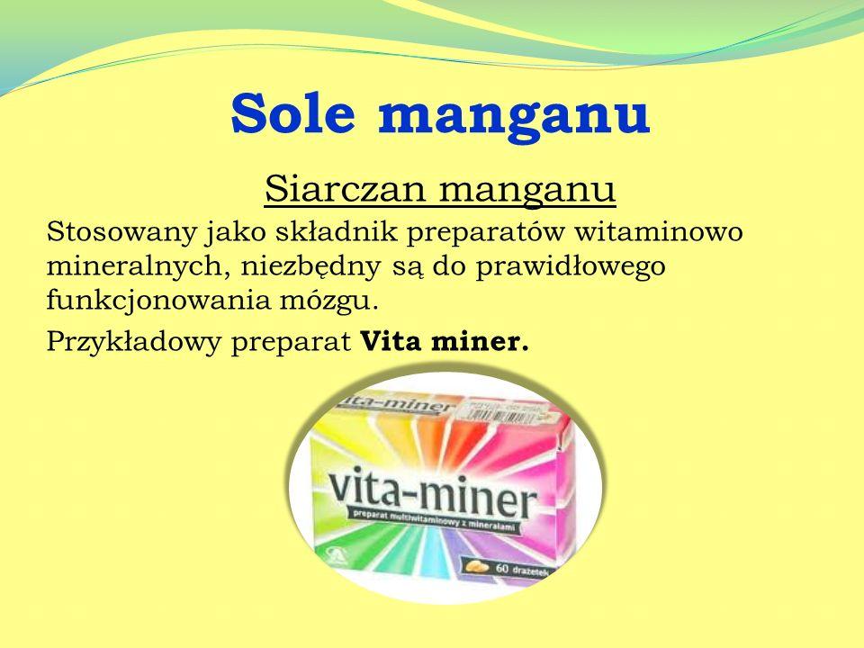 Sole manganu Siarczan manganu