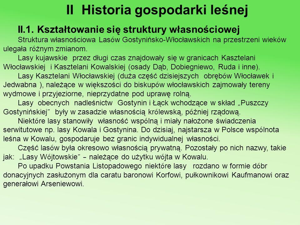 II Historia gospodarki leśnej