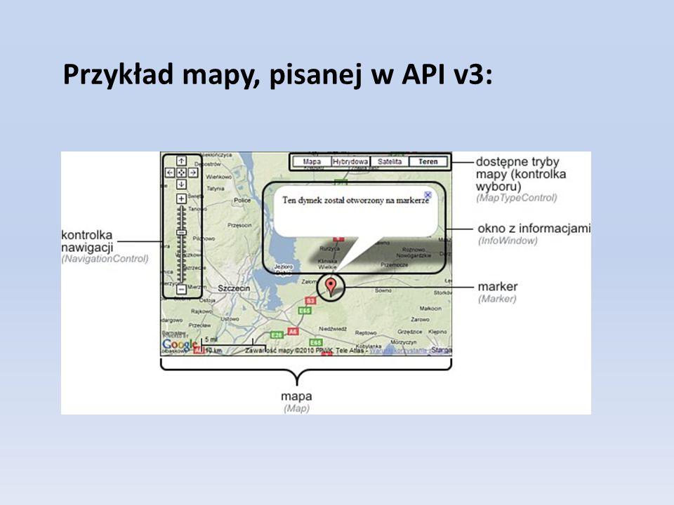 Przykład mapy, pisanej w API v3: