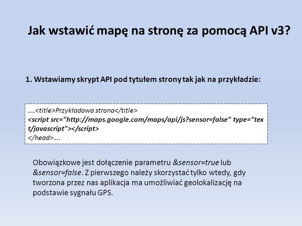 Jak wstawić mapę na stronę za pomocą API v3