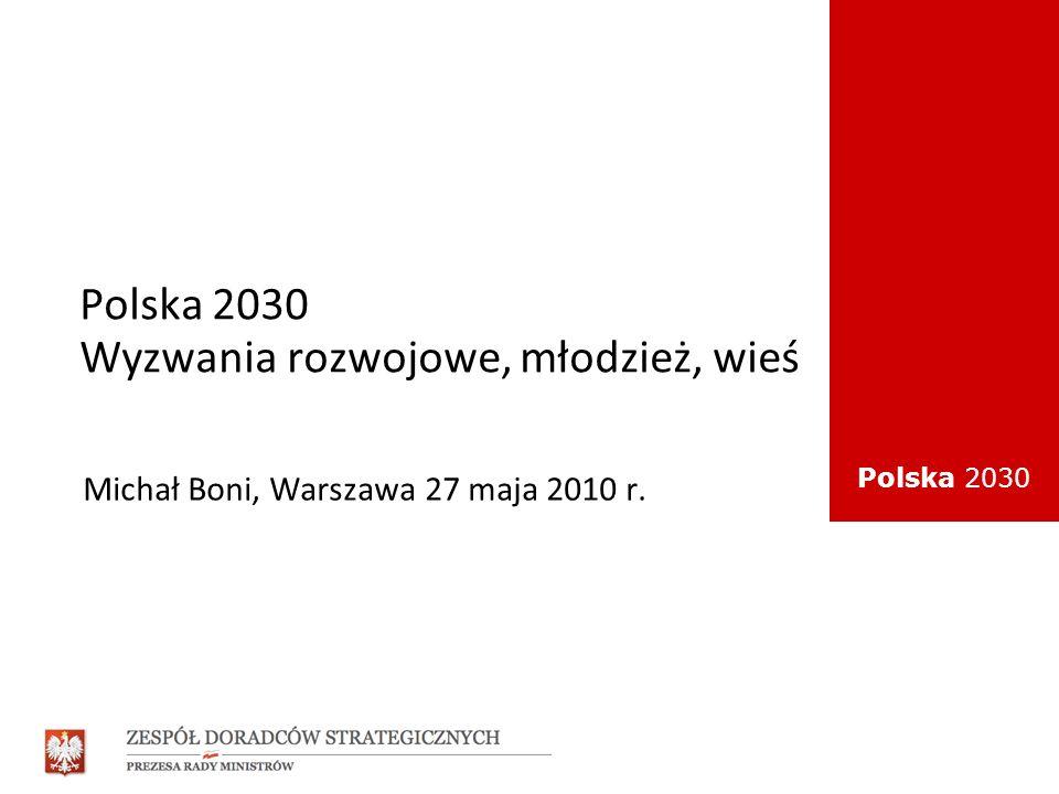Polska 2030 Wyzwania rozwojowe, młodzież, wieś