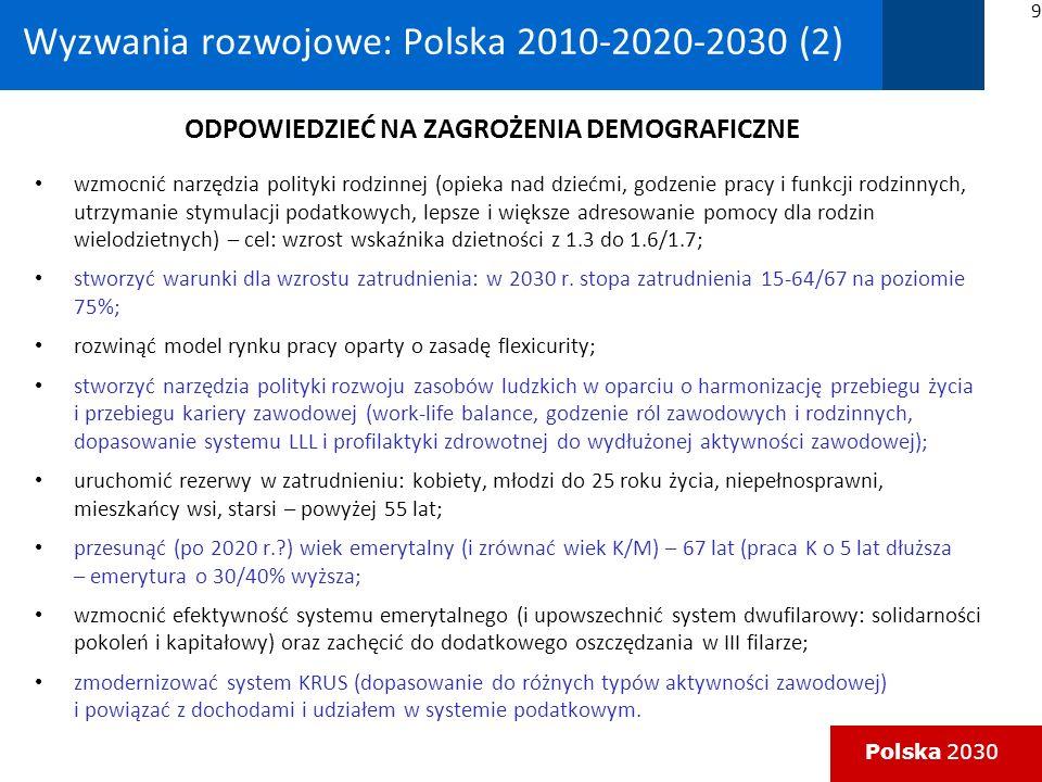 Wyzwania rozwojowe: Polska 2010-2020-2030 (2)