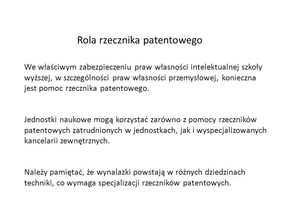 Rola rzecznika patentowego