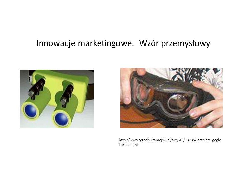 Innowacje marketingowe. Wzór przemysłowy