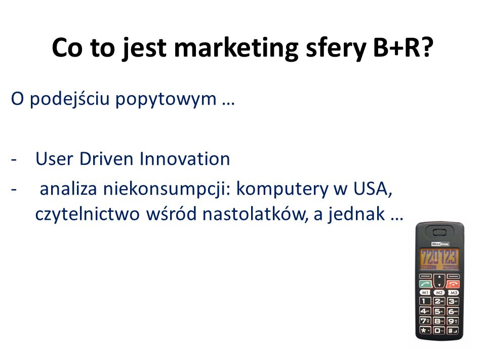 Co to jest marketing sfery B+R