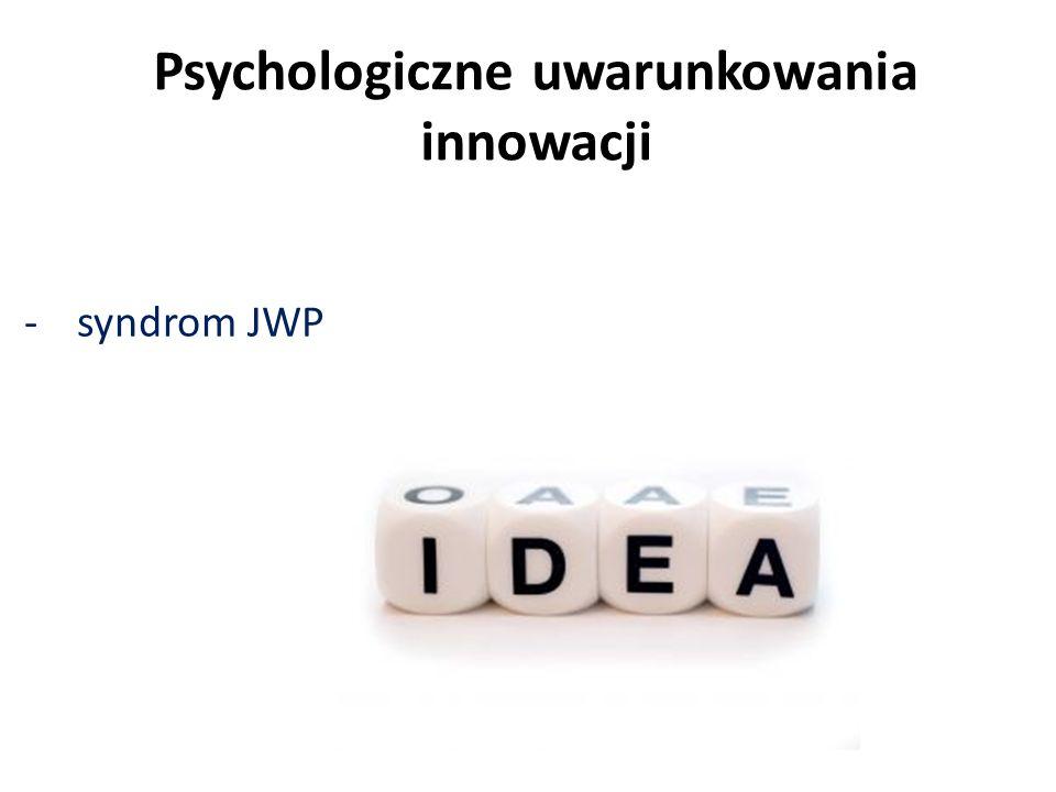 Psychologiczne uwarunkowania innowacji