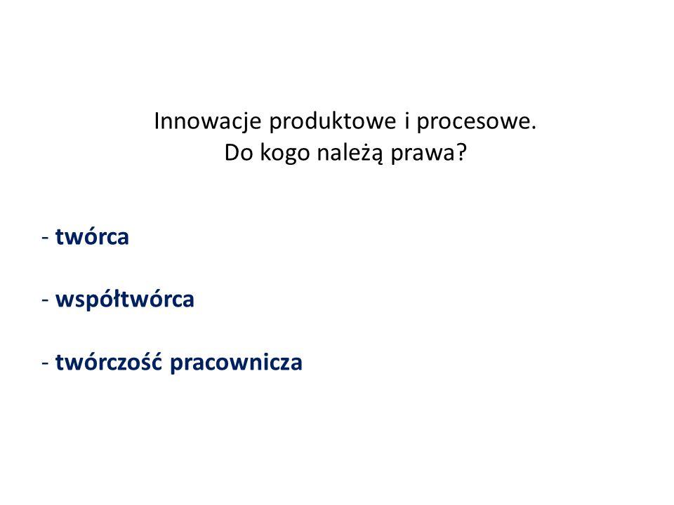 Innowacje produktowe i procesowe. Do kogo należą prawa