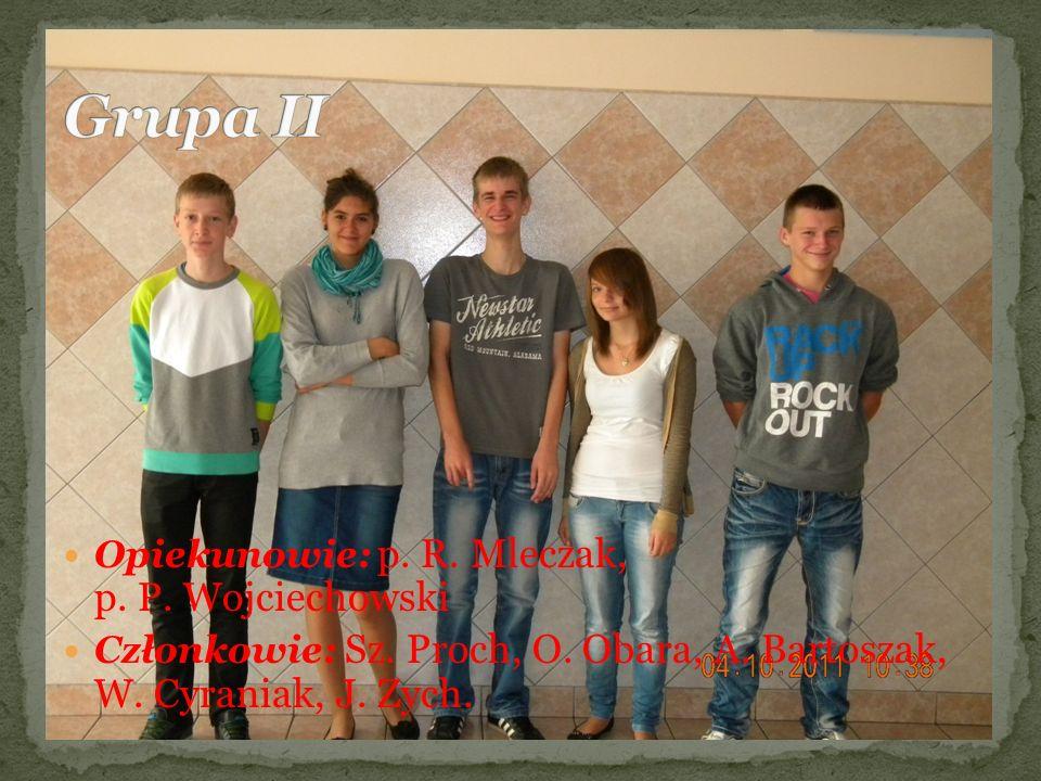 Grupa II Opiekunowie: p. R. Mleczak, p. P. Wojciechowski