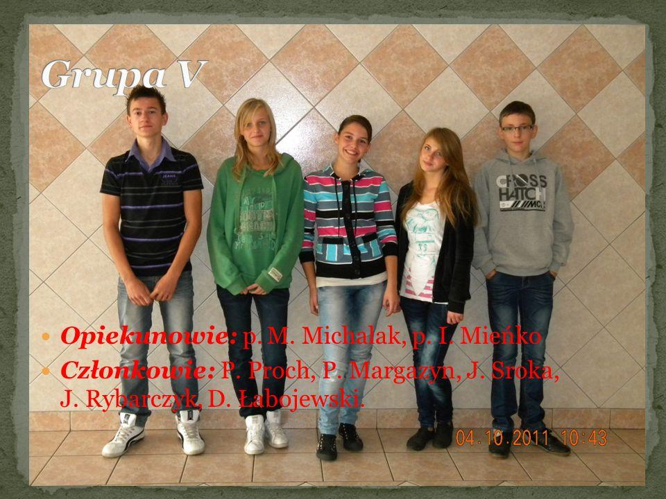 Grupa V Opiekunowie: p. M. Michalak, p. I. Mieńko