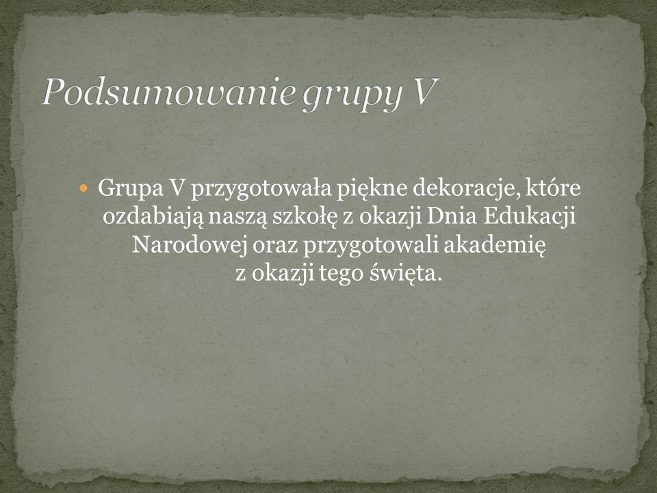 Podsumowanie grupy V