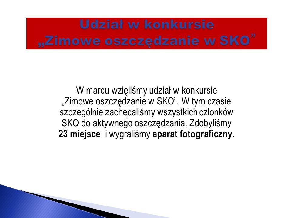 """Udział w konkursie """"Zimowe oszczędzanie w SKO"""