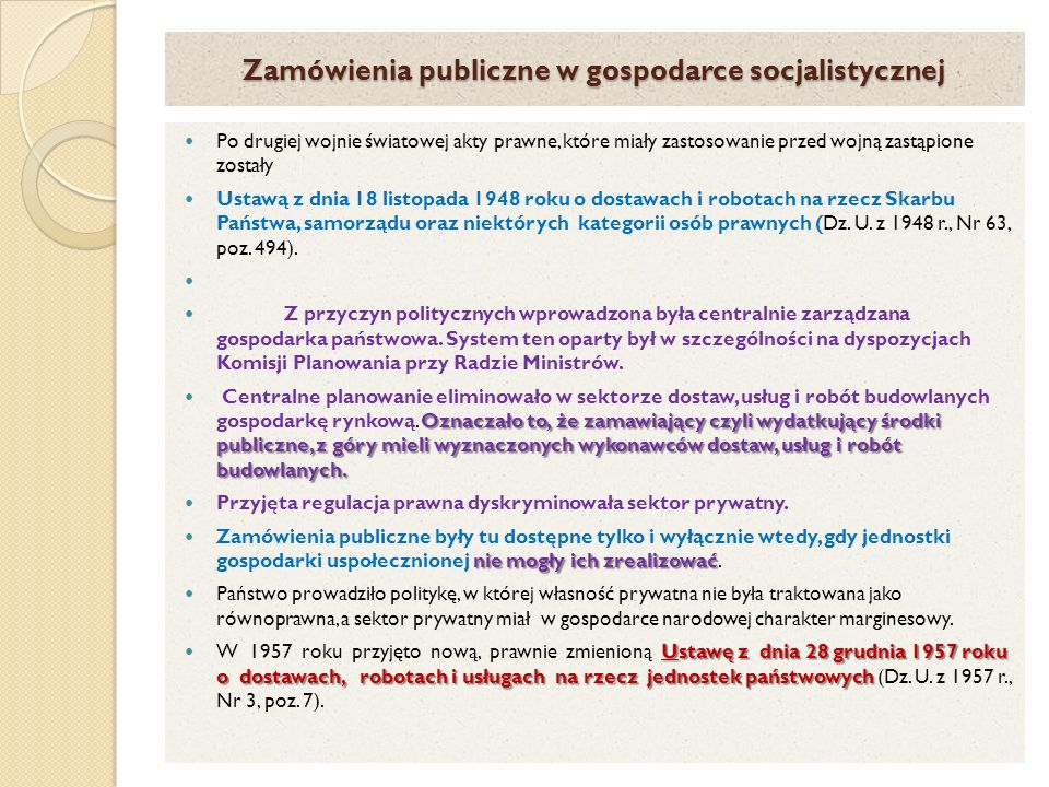 Zamówienia publiczne w gospodarce socjalistycznej