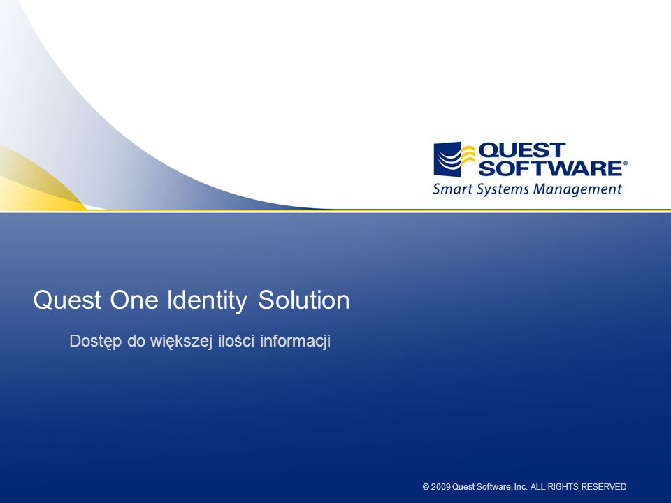 Quest One Identity Solution