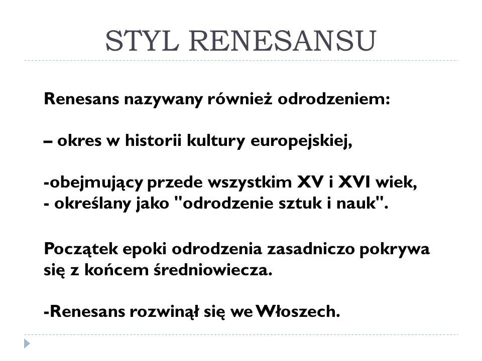 STYL RENESANSU