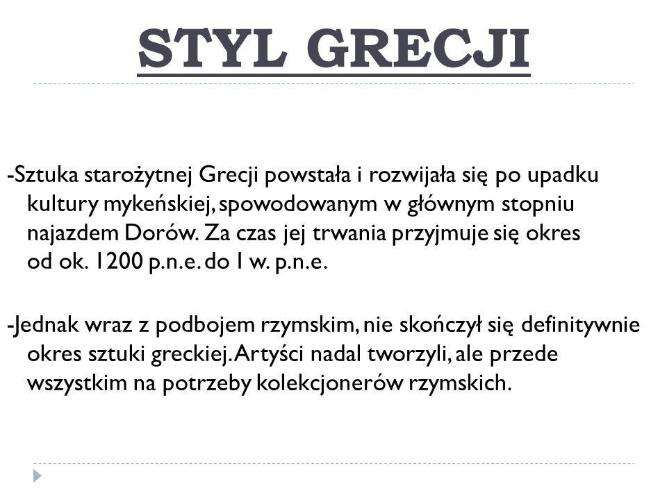 STYL GRECJI