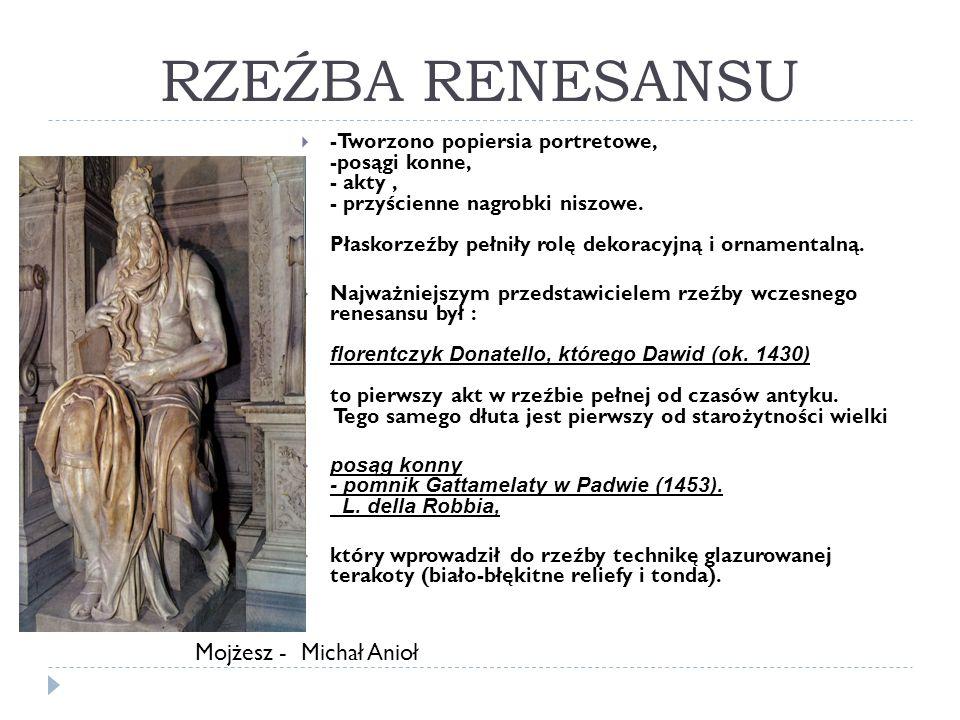 RZEŹBA RENESANSU Mojżesz - Michał Anioł