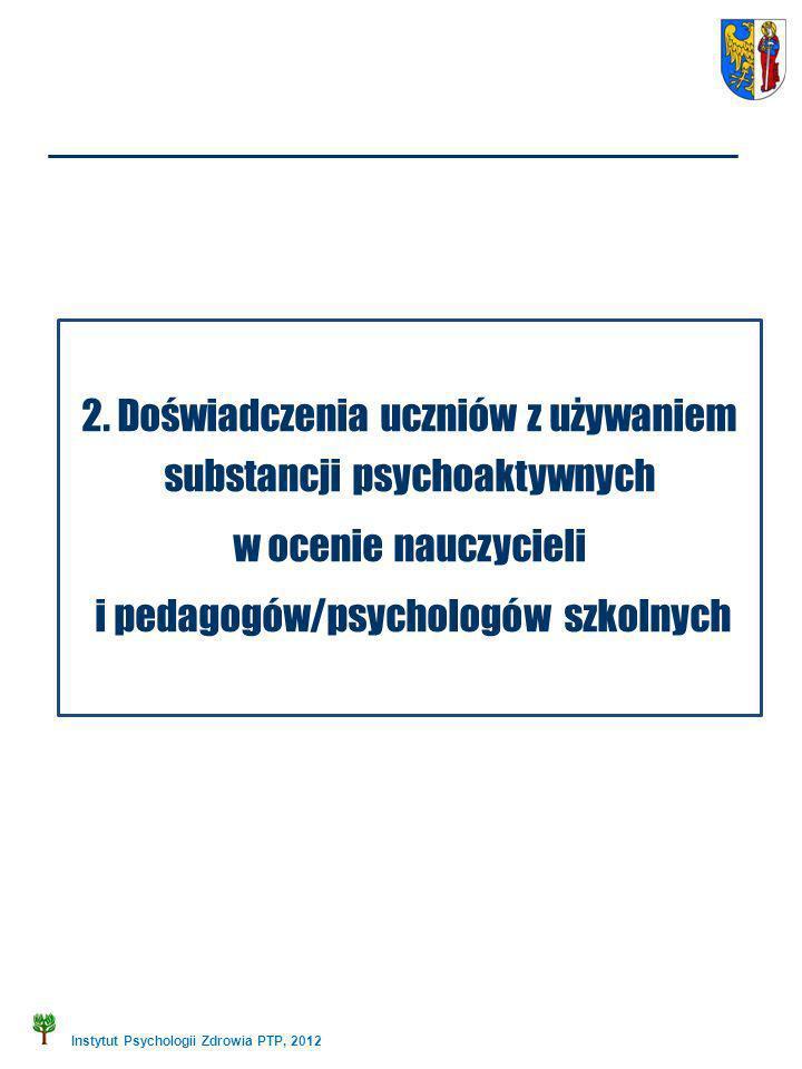 2. Doświadczenia uczniów z używaniem substancji psychoaktywnych