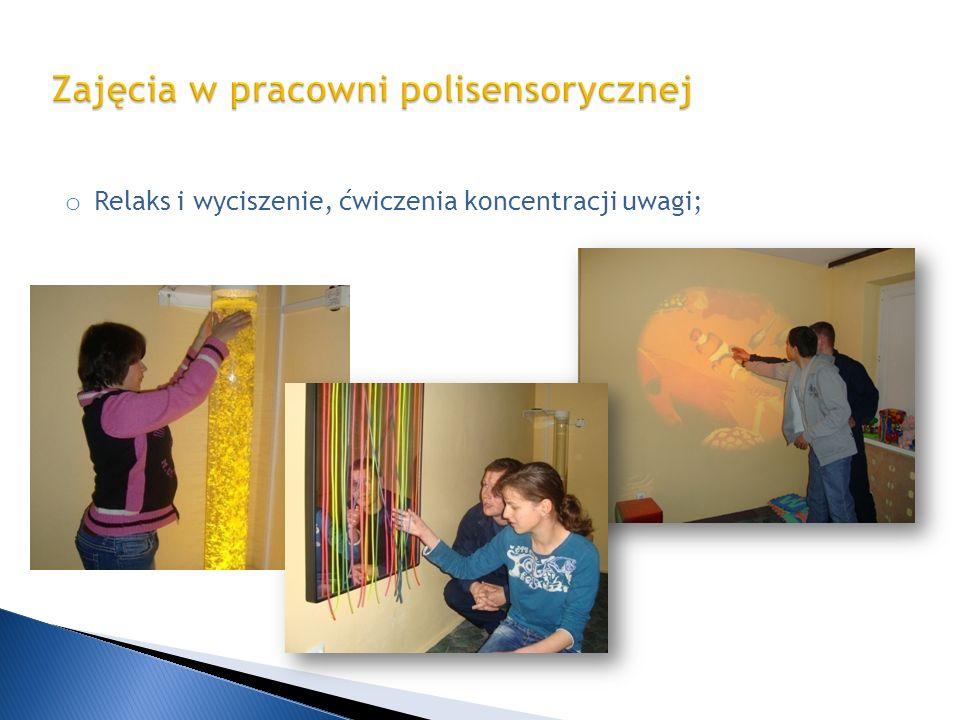 Zajęcia w pracowni polisensorycznej