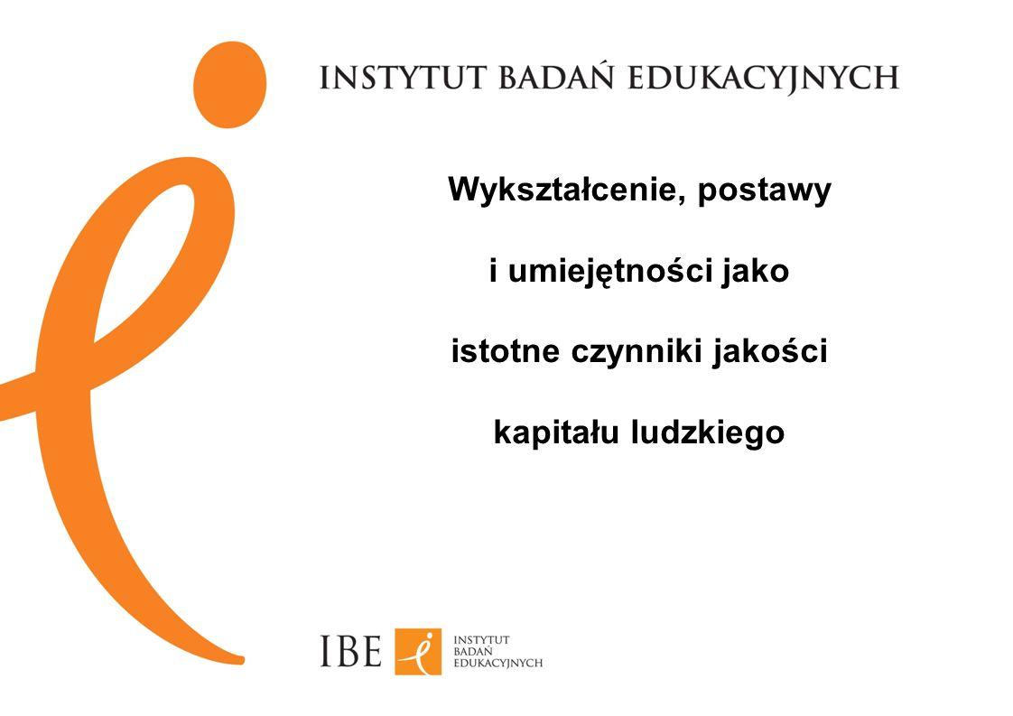 Wykształcenie, postawy i umiejętności jako istotne czynniki jakości kapitału ludzkiego