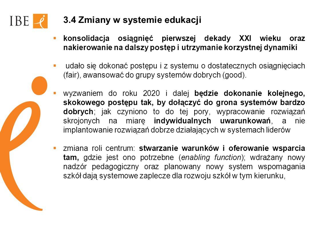 3.4 Zmiany w systemie edukacji