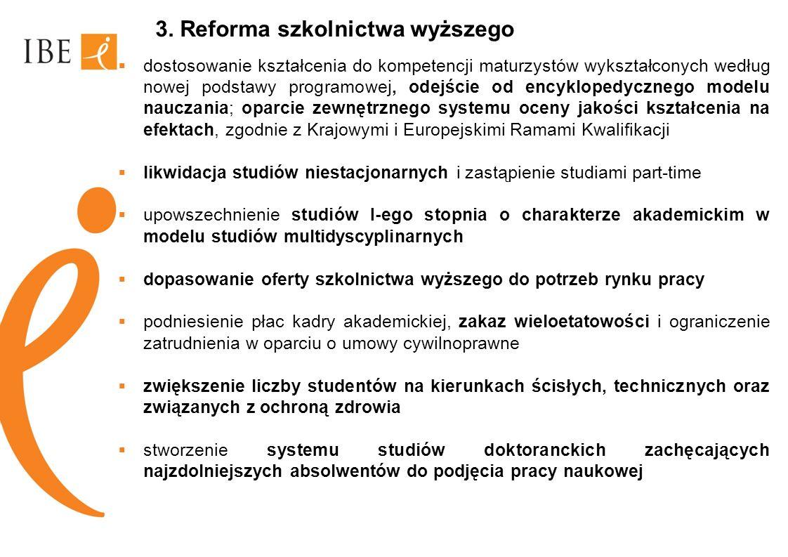 3. Reforma szkolnictwa wyższego
