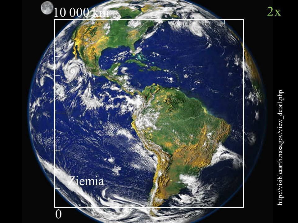 2x 10 000 km Ziemia http://visibleearth.nasa.gov/view_detail.php