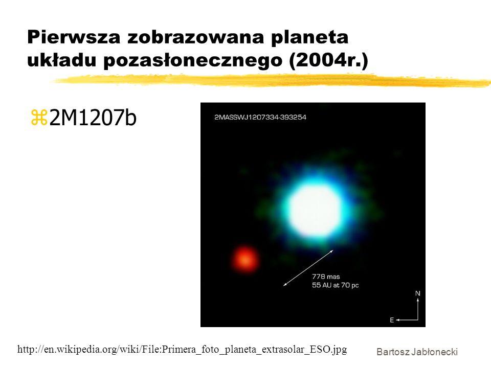 Pierwsza zobrazowana planeta układu pozasłonecznego (2004r.)