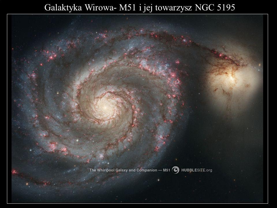 Galaktyka Wirowa- M51 i jej towarzysz NGC 5195