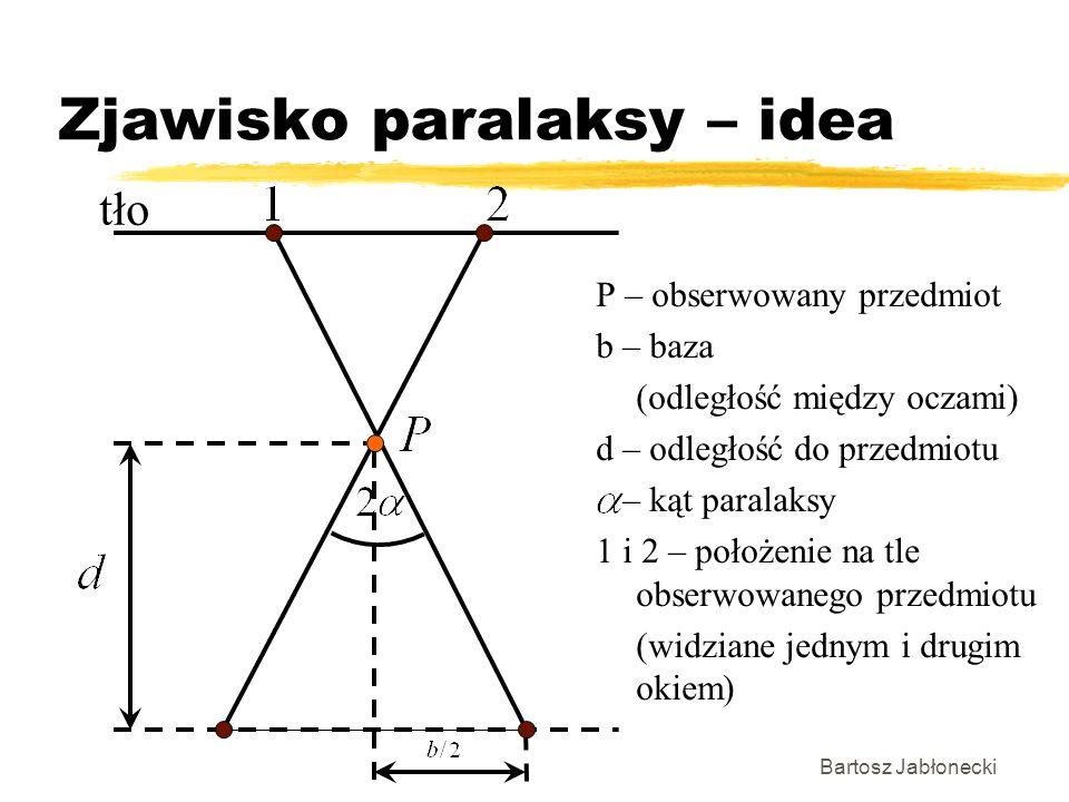 Zjawisko paralaksy – idea