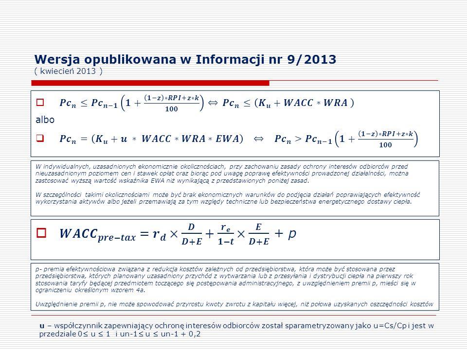 Wersja opublikowana w Informacji nr 9/2013 ( kwiecień 2013 )