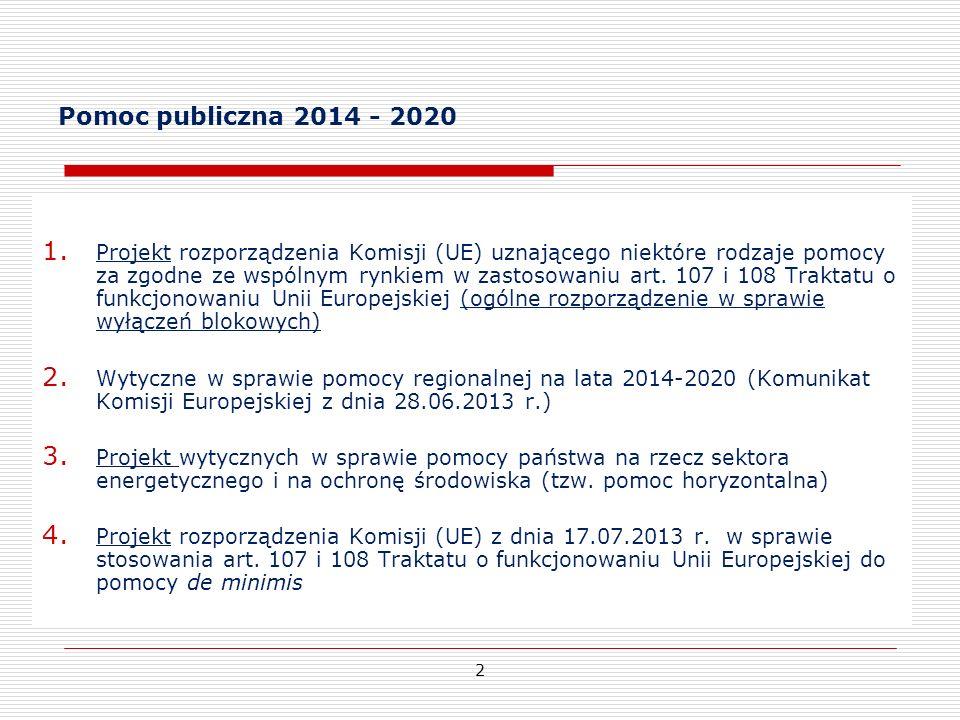 Pomoc publiczna 2014 - 2020