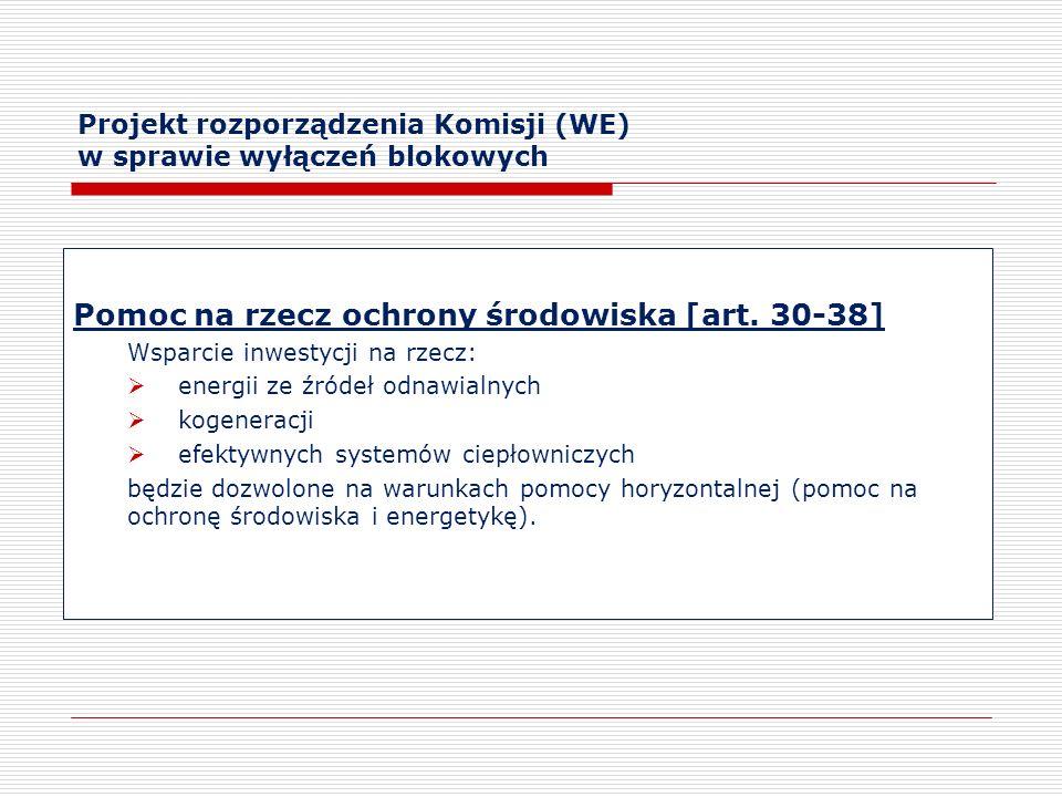 Projekt rozporządzenia Komisji (WE) w sprawie wyłączeń blokowych