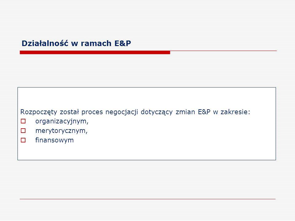 Działalność w ramach E&P