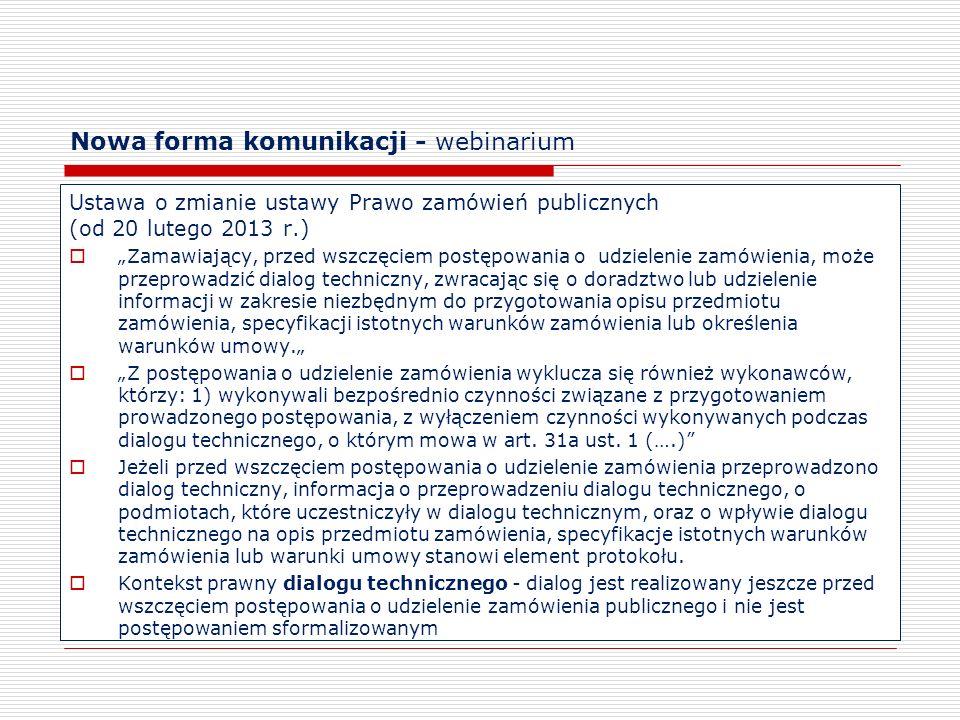 Nowa forma komunikacji - webinarium