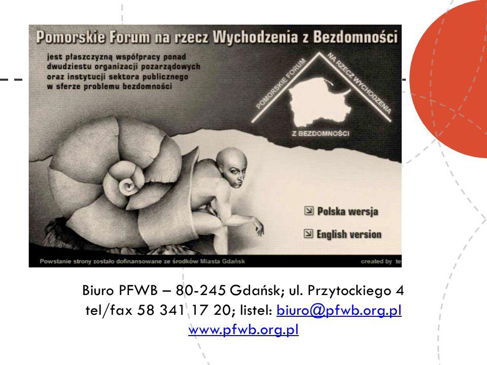 Biuro PFWB – 80-245 Gdańsk; ul. Przytockiego 4