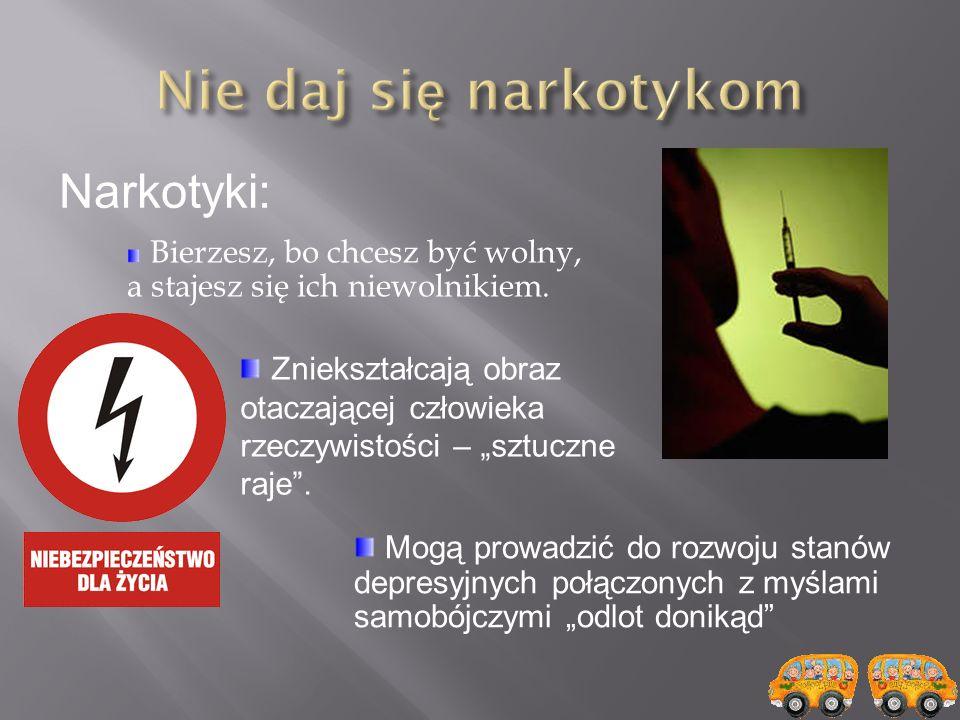 Nie daj się narkotykom Narkotyki: