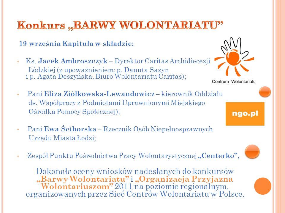 """Konkurs """"BARWY WOLONTARIATU"""