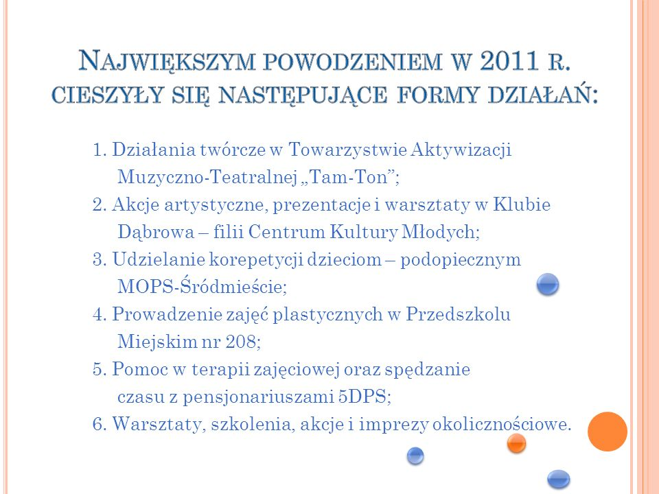 Największym powodzeniem w 2011 r