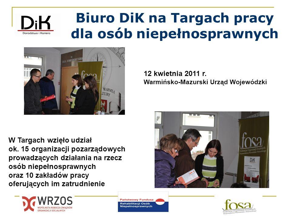 Biuro DiK na Targach pracy dla osób niepełnosprawnych