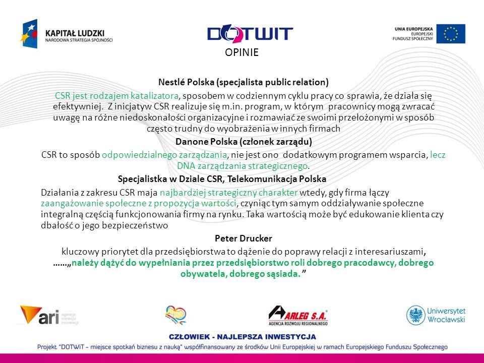 OPINIE Nestlé Polska (specjalista public relation)