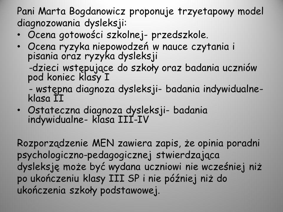Pani Marta Bogdanowicz proponuje trzyetapowy model